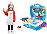REAVIAN Doctor Kit Toy for Kids, Doctor Roleplay Medical Backpack Pretend Play Set,Simulation Props, Gift for Boys Girls 3-8 Years Old Kids