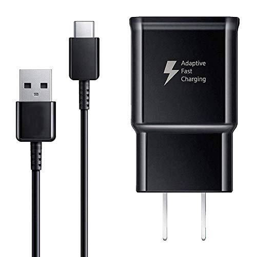 Cable de Carga USB Tipo C y Adaptador de Carga rápida Adaptable, Compatible con Samsung Galaxy S10/S10+ S10e /S9/S9+/S8/S8+ Plus Note 8/Note 9 y Otros Smartphones