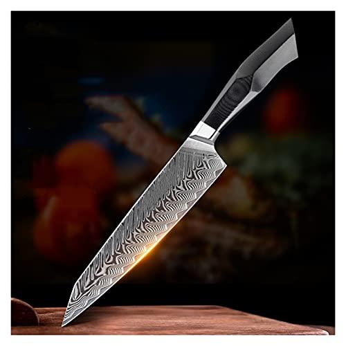 Xizdth 8.3'Cuchillo de Corte de 67 Capas Damasco de Acero más Nuevo Cuchillo de Cocina Cuchillos de Acero Inoxidable Cuchillos prácticos y Hermosos