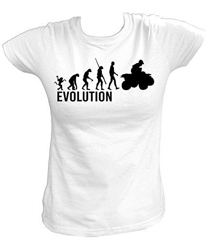 Artdiktat Damen T-Shirt - Evolution ATV Quad Größe XXL, weiß