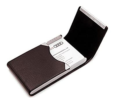 RFID Blocking Card Holder - Leather Card Case and Front Pocket Wallet with Magnetic Shut