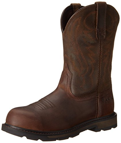 Ariat Men's Groundbreaker Pull-On Steel Toe Work Boot, Brown, 10 M US
