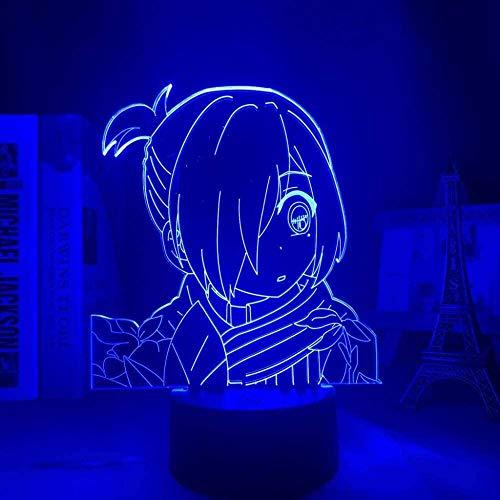 FUTYE Luz nocturna 3D ilusión japonesa anime decoración LED inodoro Hanako Kun Yahiro Nene Anime Luz para decoración de dormitorio Luz de noche Niños Regalo de cumpleaños Manga Noche Lámpara