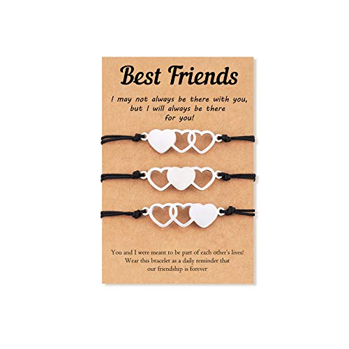 Tarsus 3 Best Friend Bracelets Matching Distance Bracelet Jewelry Gifts for Bff Women Girls Daughters Friendship