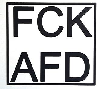 1x hochwertiger 'FCK AFD' Aufkleber / Autoaufkleber, Laptop vinyl, / high quality product, (10x11cm), schwarz