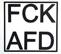 """1x """"FCK AFD"""" PKW-Aufkleber vinyl (10 x 11 cm)"""