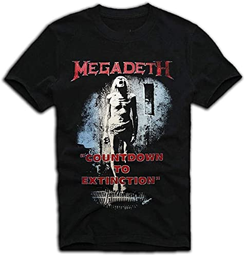 KOPA Megadeath Countdown to Extinction Vintage T-Shirt Style Short Sleeve New Men Cotton T-Shirt_2056
