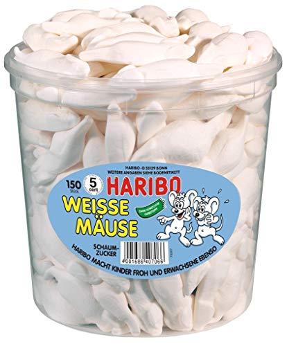 HARIBO Weisse Mäuse, Dose, 4er Pack (4 x 1050g)