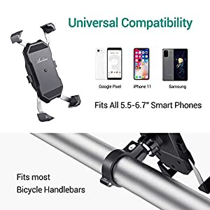 "Avolare Soporte Movil Bicicleta, Soporte Manillar Universal, Soporte Movil Motocicleta de Rotación 360° para 5.5-6.5"" Smartphones, iPhone 11 Pro MAX/XS Max/XR/X/8/7/6S, Samsung S10/S9/S8/S7, Huawei"