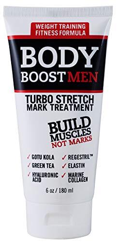 Body Boost Men Turbo Stretch Mark Treatment- Stretch Mark and Scar Treatment for Bodybuilding