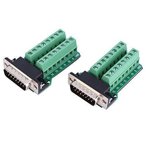 2-teiliger Klemmenblock-Stecker Nietzahn Typ DB15-G2-00 DB15 an Klemmenblockplatinenstecker