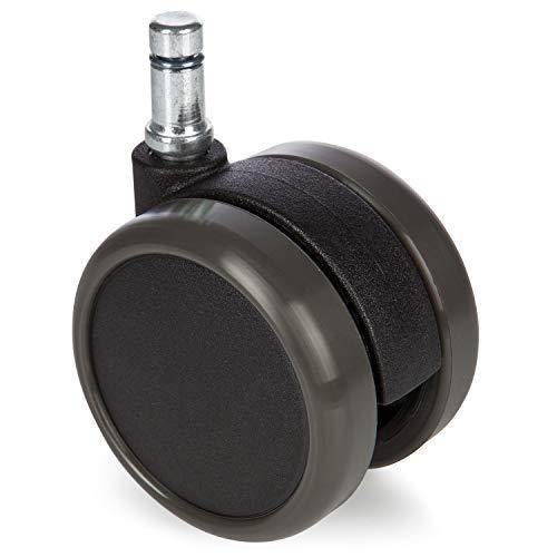 Lápiz ruedas suelos (10mm de diámetro, 60mm de diámetro rollo)–5Unidades) Silencioso rodillos de repuesto para suelos duros