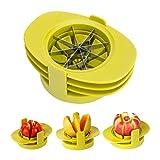GuDoQi Taglia Mela 4 in 1 in Acciaio Inossidabile Affettatrice Mela Taglia-Mango Taglia-Pomodori con Base Stabile per Frutta Arancio Pera Guava Avocado Limone