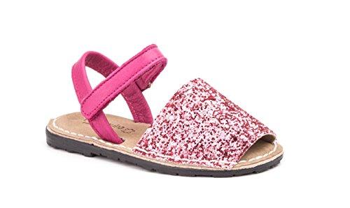 Menorca-Sandale Avarcas Menorquin im Glam-Look - Mädchen-Größen 28-35 (32, Rosa/Pinkt)