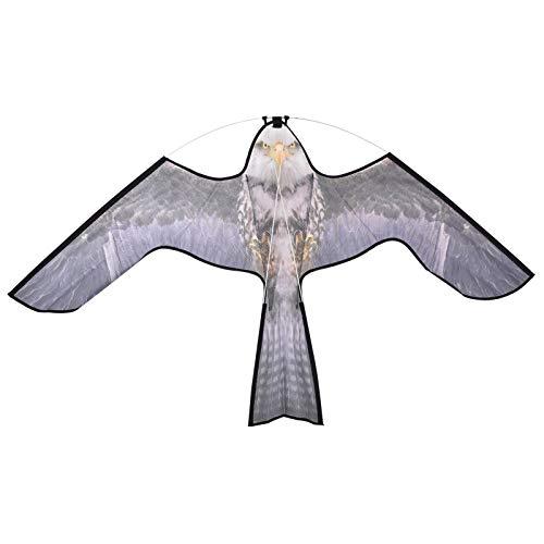 Cometa repelente de pájaros simulación de celosía de nailon entrenamiento de águila cometa de pájaro jardín de césped al aire libre espantapájaros decoración de patio línea de cometas 2 metros volante