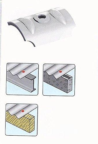 50 Stück Kalotten Alu für Lichtplatten - Sinusprofil 177/51