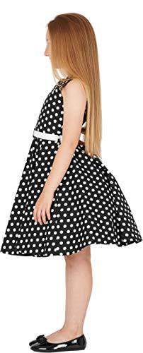 BlackButterfly Kinder 'Audrey' Vintage Polka-Dots Kleid im 50er-J-Stil (Schwarz, 9-10 J) - 4