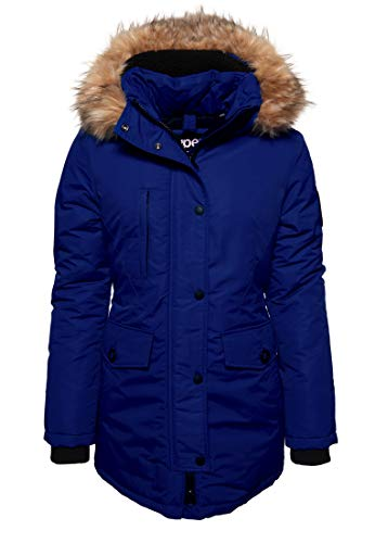Superdry Damen Ashley Everest Parka Jacke - Kobaltblau, M