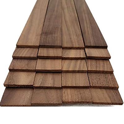 """Walnut Thin Sawn Lumber Board Blank - 1/8"""" x 1.5"""" x 18"""" (20 Pcs)"""