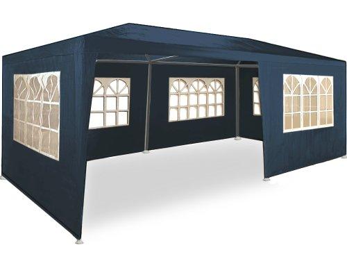 Kingsleeve Festzelt Rimini 3x6m Blau UV-Schutz 18qm 6 Seitenteile Fenster Wasserabweisend Pavillon Partyzelt Gartenzelt Festival