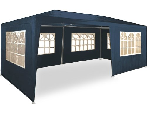 Kingsleeve Festzelt Rimini 3x6m UV-Schutz 18m² 6 Seitenteile Fenster wasserabweisend Pavillon Partyzelt Gartenzelt Festival Blau