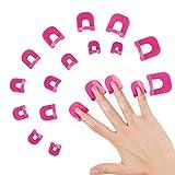 26PCS Plantilla de esmalte de uñas en 10 tamaños Kit de protección de uñas, protector de esmalte de uñas, Accesorios para herramientas básicas de arte de uñas