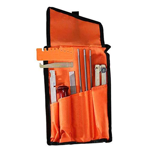 oshhni - Kettensägenschärfer in Orange, Größe 290x185x30mm