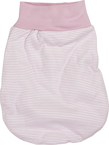 Schnizler Kleinkinder Strampelsack aus Baumwolle, praktischer Pucksack mit elastischem Umschlag-Bund, gestreift
