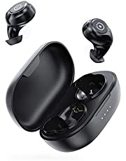 ENACFIRE Wireless Headphones, E60 Wireless Earphones with Wireless Charging Case, 8H Continuous Playtime Built-in Dual Apt-X Deep Bass Wireless Earbuds with IPX8 Waterproof, Bluetooth V5.0 Headphones