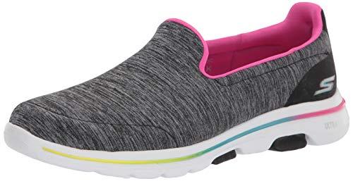 Skechers GO Walk 5-124204, Zapatillas Deportivas. Mujer, Negro y Multicolor, 35.5 EU