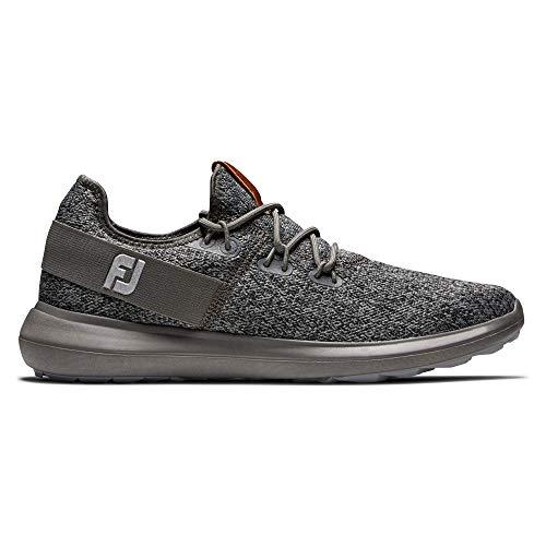 Footjoy Flex, Zapatos de Golf Hombre, Coastal Black Charcoal, 44 EU