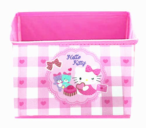 Kerr's Choice Collapsible Storage Bin Kawaii Storage Box Kitty Foldable Baskets | Kitty Office Desk Room Decoration Cat Kitty Gifts Accessories Cute Room Decor