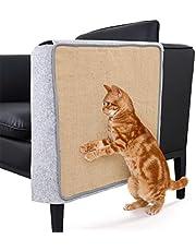HoneybeeLY Mata do drapania kota osłona sofy - 140 x 92 cm naturalny sizal ochraniacz na meble podkładka do drapania dla kotów - dywanik do drapania na kanapę, sofę, krzesło