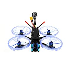 【BNF Brushless Whoop Drone 】3 inch small size toothpick carbon fiber drone but with tons of power for its size , the fastest more than you can imagine . Great 4S mini racing drone for newer . 【Stable and more protection 】3' brushless whoop drone with...