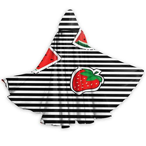 ALALAL Moda Linda Caricatura Fruta sanda Disfraz de Capa para Adultos Gran Capa con Capucha 59 Pulgadas para Navidad Disfraces de Halloween Cosplay