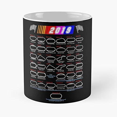2019 Nascar Monster Cup Series Schedule Season Championship Stock Car - Best 11 oz Kaffee-Becher - Tasse Kaffee Motive