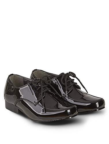 V.C. Festliche Jungen Anzug Schuhe schwarz Lackschuhe (Numeric_34)