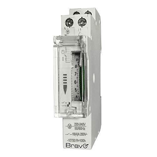 Bravo 93003222 - Reloj mecánico con Temporizador para Cuadros eléctricos DIN 230...