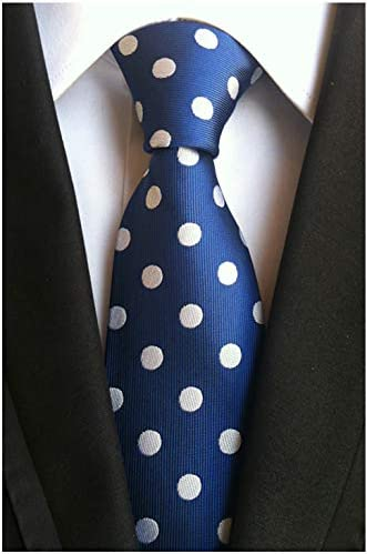 Details about  /XT043 100/% mans neck tie silk wedding birthday party solid black polka dot ties