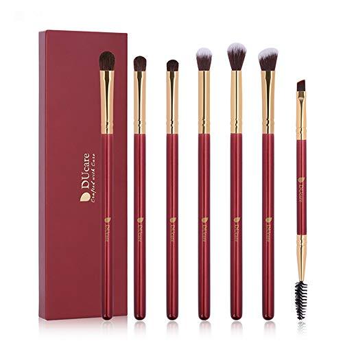 Pinceau de maquillage en fibres synthétiques, 7pcs prime synthétique douce et sans cruauté, pinceau de Kabuki, correcteur de teint, poudre de blush, mélange de fards à paupières
