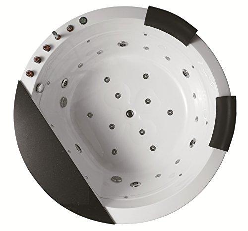 Whirlpool baño–Izis 916/1700x 1700x 830mm/calentador de agua/Touch Panel de control con FM Radio/CD/MP3/51chorros para el cuerpo/ozono desinfección/garantía de por vida/luz LED/de entreg
