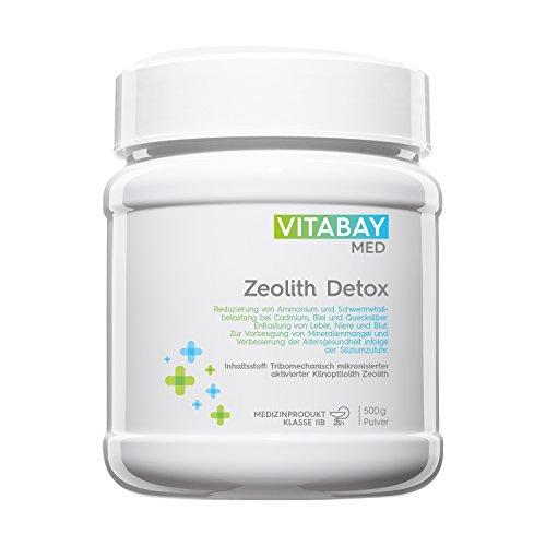 Vitabay Zeolith Detox Pulver (500 g) • Medizinprodukt zur Entgiftung 95% Klinoptilolith • Made in Germany, Natürlich & Organisch