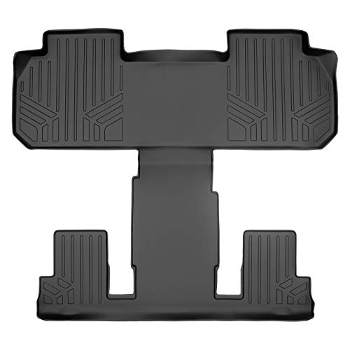 SMARTLINER Floor Mats 2nd and 3rd Row Liner Black for 2018-2021 Chevrolet Traverse/Buick Enclave with 2nd Row Bucket Seats