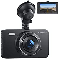 Crosstour 1080P Full HD Dash Cam with 3