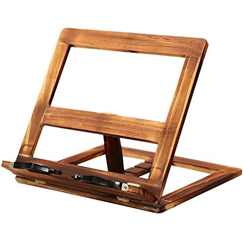 boekenstandaard Opvouwbare receptenboekstandaard,houten frame lezen boekenplank,tablet pc ondersteuning stand stevige…