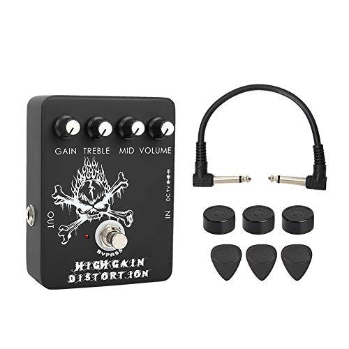 Bnineteenteam Pedal de Efecto de Alta Ganancia Pedal de Efecto de distorsión para Guitarra eléctrica