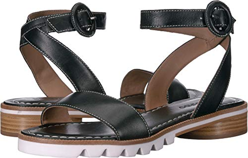 Bernardo Alexis Sandal Black Antique Calf 6.5
