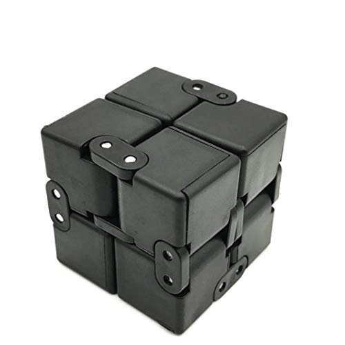 EVERMARKET Infinity Fidget Cube for Kids and Adults, Stress and Anxiety Relief Cool Hand Mini Kill Time Toys Infinite Cube for Add, ADHD, Black