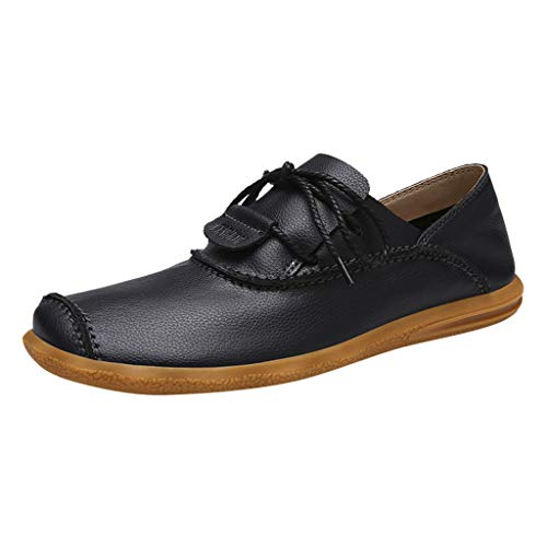 Goddessvan 2019 Men's Soft Business Leather Shoes Loafers Comfortable Non-Slip Casual Shoes Black
