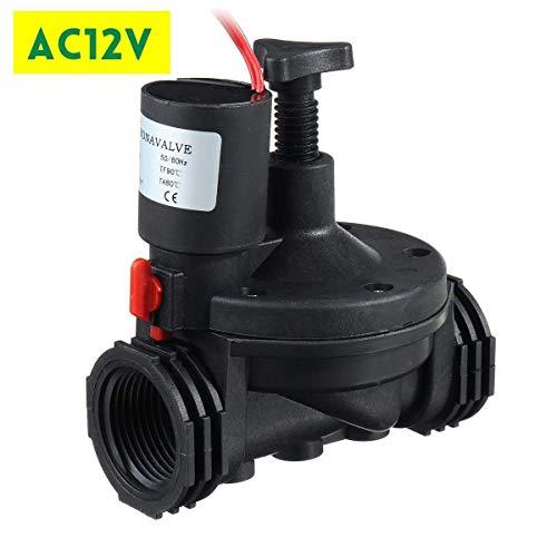 Lijincheng Riego Programado 3/4  Industrial válvula de riego 12V / 24V AC Válvulas de solenoide Jardín Controlador for la Yarda del jardín del jardín del Agua temporizadores (Color : AC12V)